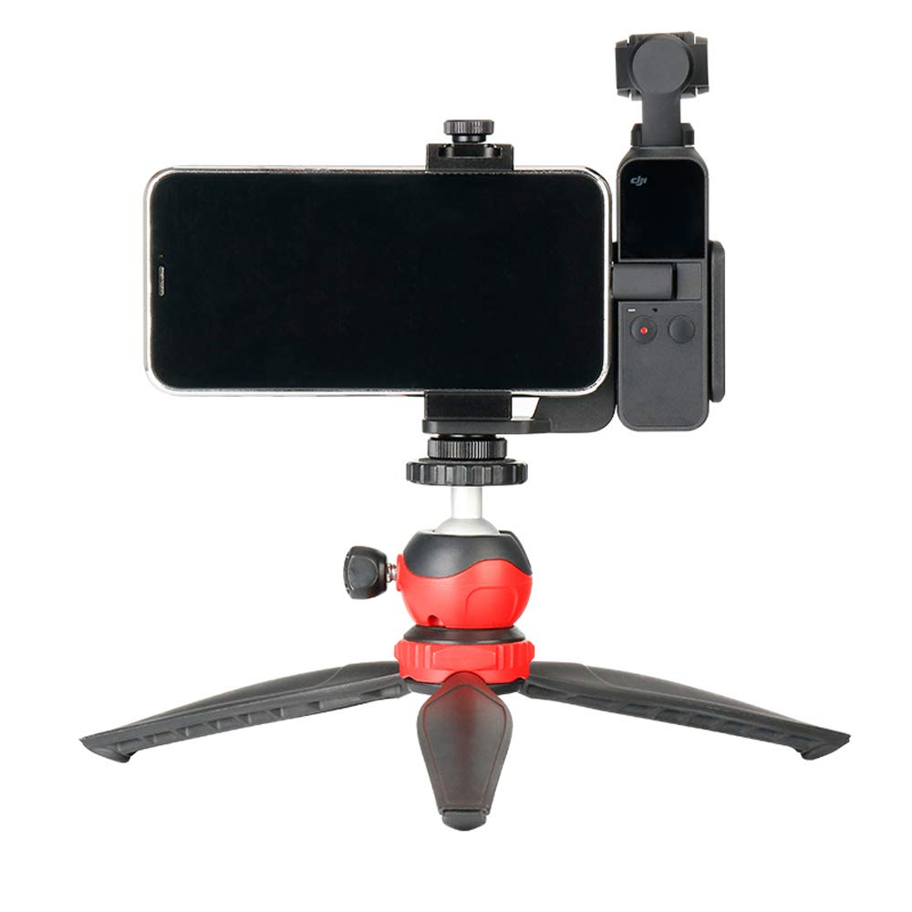 Modenny OP-1 DJI Osmo Pocket Accessories Mobile Phone Holder Mount Set Fixed Stand Bracket for DJI Osmo Pocket Handheld Cameras