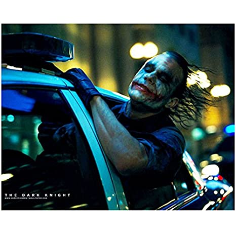 Heath ledger as the joker in the dark knight taking a joyride in heath ledger as the joker in the dark knight taking a joyride in police cruiser 8 ccuart Image collections