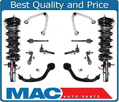 Mac Auto Parts 158841 Front Complete Struts & Control Arms Tie Rods Links 12 Pcs Kit For G35 4DR All Wheel Drive Automatic Transmission. 04-06