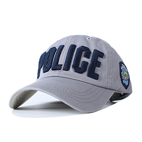 Galleon - Vankerful NYPD Police Embroidered Hats Adjustable Baseball Caps  Unisex Light Grey 27ea69158a