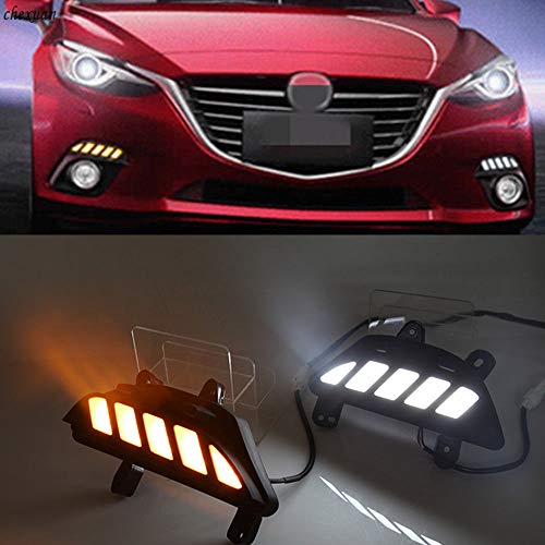 [해외]Auto-Tech LED light Daytime Running Light Retrofit LED White light color DRL kit For Mazda 3 Axela 2014-2016 (White to yellow light) / Auto-Tech LED light Daytime Running Light, Retrofit LED White light color DRL kit For Mazda 3 Ax...