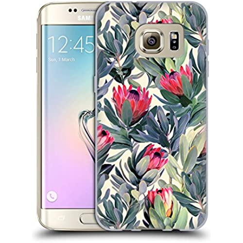 Official Micklyn Le Feuvre Painted Protea Florals Soft Gel Case for Samsung Galaxy S7 edge Sales