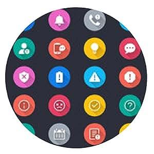 alfombrilla de ratón La información y los iconos de color simple notificación - ronda - 20cm