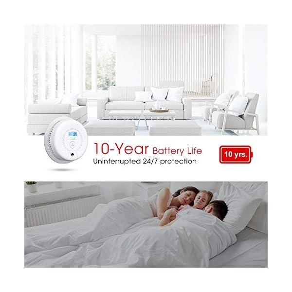 51Zic2pktqL X-Sense Rauch- Kohlenmonoxid Melder 10-Jahres-Rauch- und CO-Alarm, mit LCD Anzeige und Prüftaste, geprüft nach DIN…