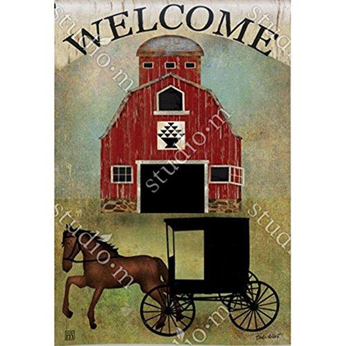 Amish Buggy Garden - Magnet Works Garden Flag - Amish Buggy