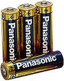 Panasonic AM-3PA/4B Alkalineplus AA Batteries, 4 Pack (Black)