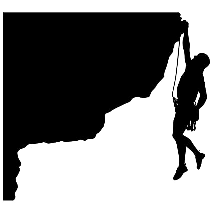 amazon com rock climbing wall decal sticker 20 decal stickers and