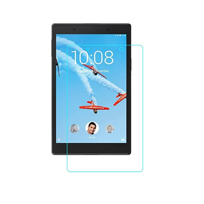 Colorcase Tempered Glass Screenguard for Lenovo Tab3 8 Plus TB 8703F  amp; 8703X Tablet   {Transparent} Screen Protectors