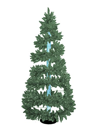 New 6.5 Ft. Green Bubble Christmas Tree with LED 7-color Changing Bubble Column