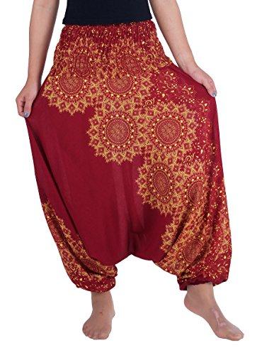 Lannaclothesdesign Womens Harem Pants Aladdin Genie Baggy Hippie Jumpsuit Playsuit