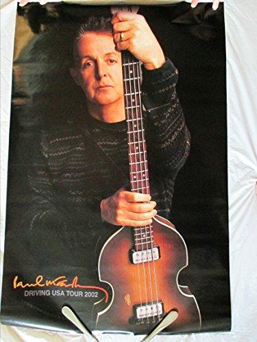 - 2002 Paul Mccartney Driving USA Tour Concert Poster