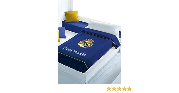 Real Madrid CF Manta Escudo Terciopelo Azul 160 x 220 cm: Amazon.es: Hogar