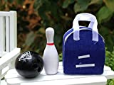 Miniature Dollhouse Fairy Garden Accessories Bowling Bag With Pin & Ball