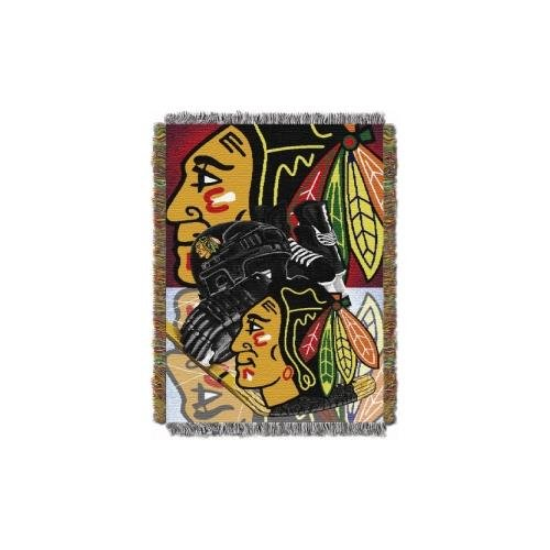 fan products of NHL Chicago Blackhawks Homefield Ice Advantage Woven Tapestry Throw, 48