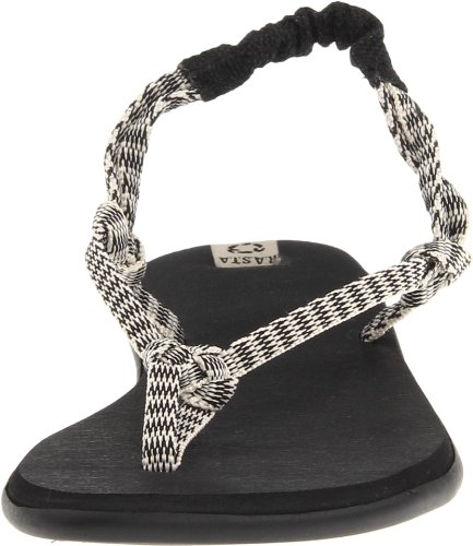 Flop Rasta Flip Knotty Sanuk Black Cream Sandals Women's z1RISwqxn