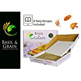 """Rectangle Pizza Stone for Crispy Crust - 14""""x17"""" for Oven n Grill with Gift Packaging - Home Baking n Cooking Stoneware for Pizza n Bread (Tasty Recipes Included) your Kids and Family Loves"""