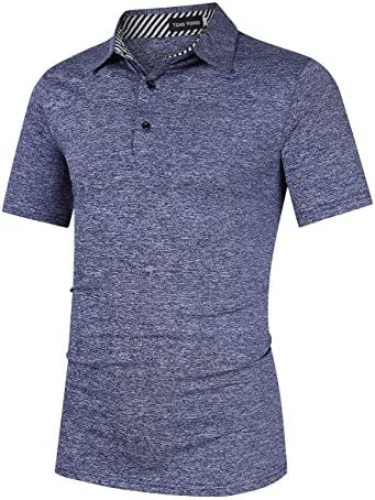 YONG HORSE MEN'S CASUAL DRY FIT GOLF POLO SHIRTS ATHLETIC SHORT SLEEVE T SHIRT