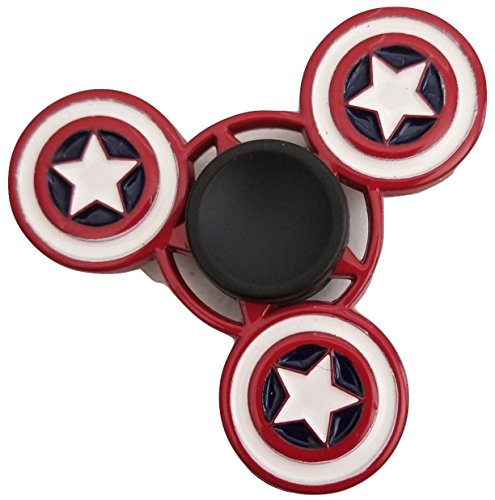 Metal Fidget Spinner Relieve Stress Reduce Anxiety America Spinner Toy (cap2)