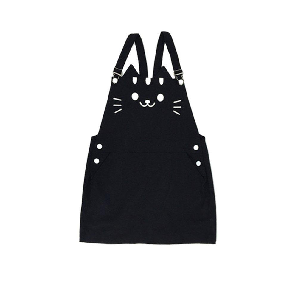 Rain's Pan Anime Cat Backyard Cotton Suspender Skirt Strap Overall Short Dress Girls