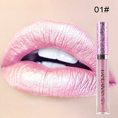 Petansy Matte Metallic Lip Gloss Liquid Diamond Glitter Lipstick Long Lasting Shimmer Sexy Lip Makeup