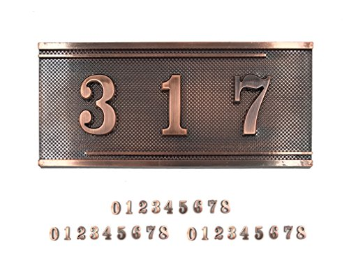 Do4U Do-It-Yourself Acrylic Address Plaque Kit,Door Number Kit ,Self-stick (3 Digit, D (Acrylic Address Plaque)