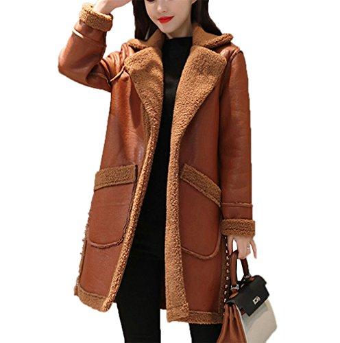 CAIXINGYI女性の冬の新しい両面ファーPUレザーラムウールコートウールコートを着用