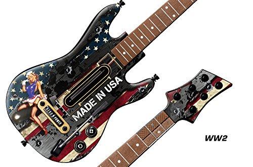 Decal Sticker for Guitar Hero Live Guitar Controller - WW2 (Decal Guitar Hero)