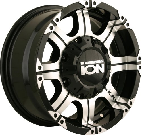 Ion Alloy 187-7937B18 Black Wheel with Machined Face and Lip (17x9