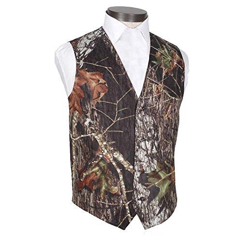 HBDesign Mens 2 Piece 4 Button Vests Outerwear Camouflage Color (Vest+Tie)-40R Camouflage Mens Vest