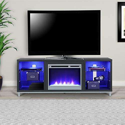 Cheap TV Stand with Electric Fireplace 70