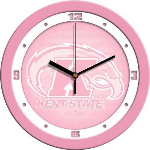 (SunTime NCAA Kent State Golden Flashes Wall Clock - Pink)