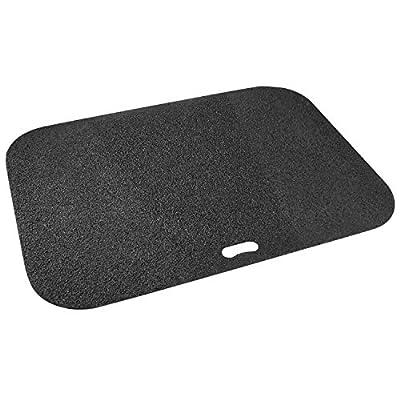 Diversitech Original Grill Mat Grill Mat - BBQ Floor Mat - Put Under Gas Grill, Fryer, Fire Pit - Protects Decks and Patios - 30 x 42 Inches - Rectangle - Black