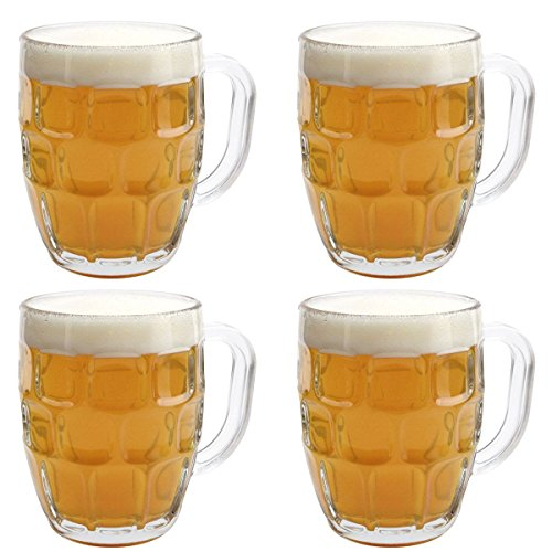 KegWorks British Pub Imperial Pint Dimple Glass. Set of 4