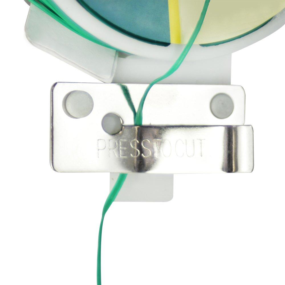 01x 100m Vert V1 avec Dispositif de Coupe com-four/® Fil de Liaison Plat de 100 m/ètres avec Fil recouvert de Plastique Vert id/éal pour Le Jardinage et Les travaux m/énagers