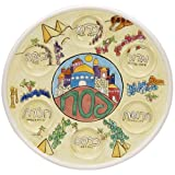 Handpainted Relief Passover Seder Plate
