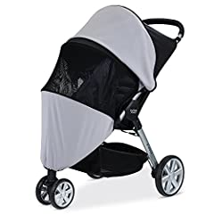 Easy to install, the well ventilated Britax B Agile/B Free/Pathway Sun and Bug Cover encloses the front and sides of your Britax Stroller to shield your baby from insects and the harmful UV rays of the sun. Compatible with single B Agile, B F...