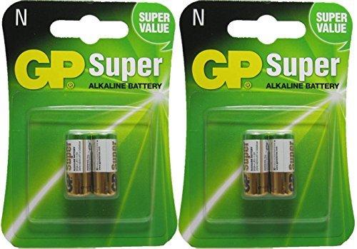 2 Packs of 2 GP Alkaline Battery Lr1 - N, 1.5V Batteries