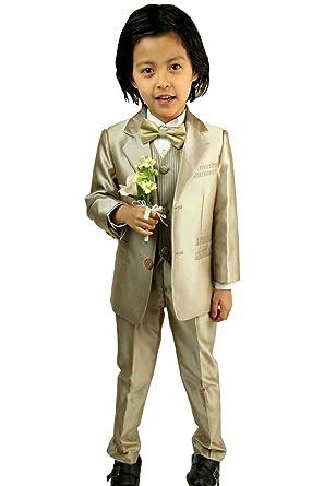 568b31142a280 子供タキシード キッズ フォーマル スーツ 男の子 子供服 シルバー ブラック ゴールド 3色 結婚式 ピアノ