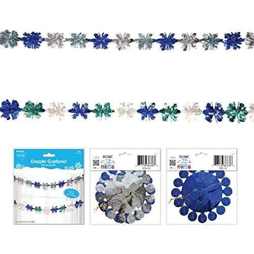 Holiday Essentials Glitz and Glam Winter Metallic Decorative Garland by
