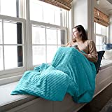 Sophia & William Weighted Blanket for Adult | Free Minky Cover Incluede, 60'x80', 20 lbs, Teal, Cotton