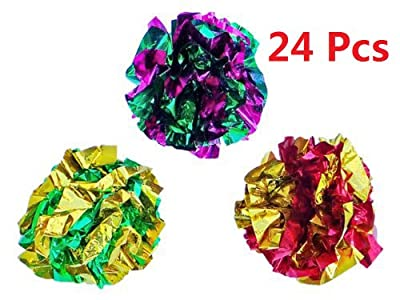 Mylar Crinkle Balls Cat Toys Best Interactive Crinkle Cat Toy Balls for Fat Real Cats Kittens Exercise