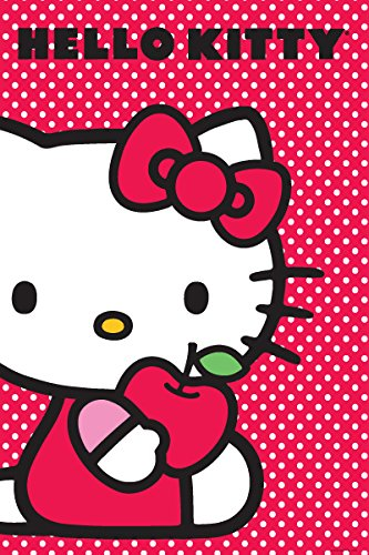 Hello Kitty-Apple, Cartoon Poster Print, 24 by 36-Inch