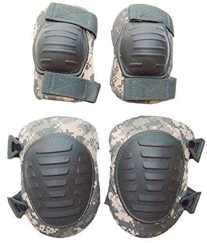 Acu Elbow Pads - Military Outdoor Clothing 1053-N Previously Issued U.S. G.I. ACU Knee and Elbow Pad Set (New Style)