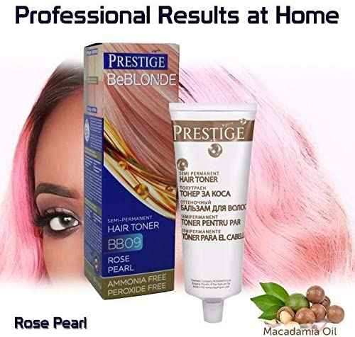 Vips Prestige BeBlonde Tinte Semi Permanente, Perla Rosada BB09, Sin Amoniaco Sin Peroxide