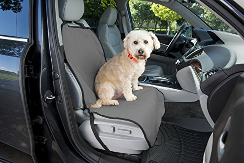 Dog Seat Protector for Cars – Front Dog Seat Cover for Your Auto's Bucket Seat – Non-slip Backing – Bonus Pet Seat Belt Included