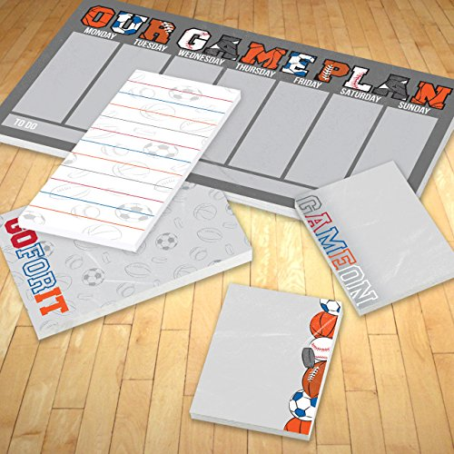 Game On Sports Adhesive Sticky Note Pack - 5 pads - 50 sheets / pad Photo #9