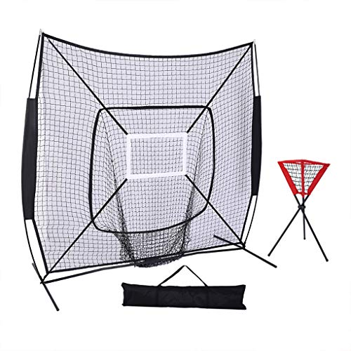 - Wrea 7'x7' Professional Baseball Collector Hitting Training Net Softball Entertainment Exercise Mesh Net