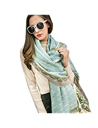 DANA XU 100% Pure Wool Women Winter Large Scarf Pashmina …
