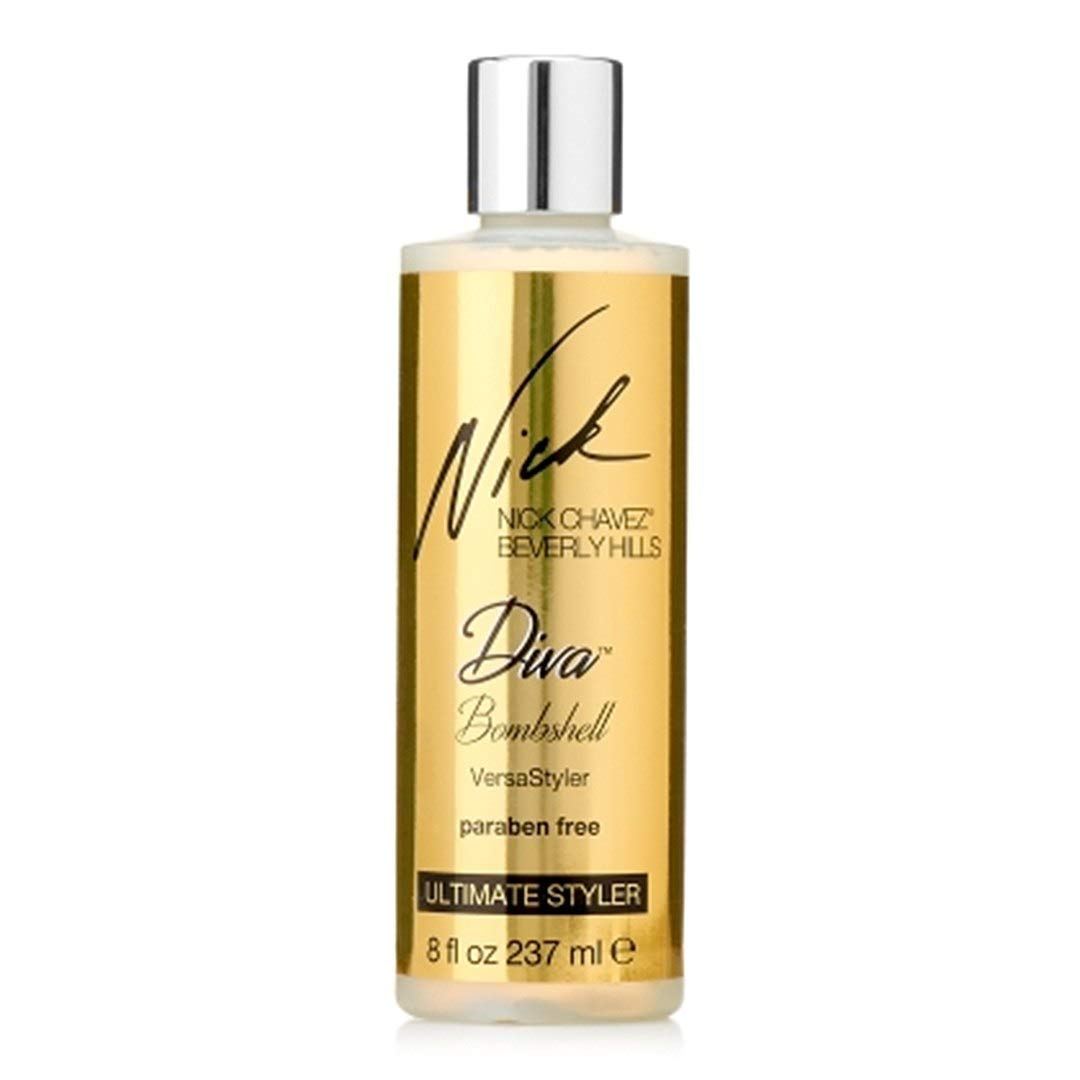 Nick Chavez Beverly Hills Diva Bombshell VersaStyler - Paraben Free, Versatile Leave-In Hair Styling Product - Smoothes, Shines, and Thickens Hair - 8oz by Nick Chavez