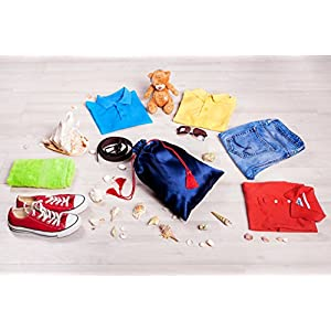 Shoe Bag - Ballistic Nylon - Drawstring Bag - Waterproof Nylon (3pcs) + Pouch Bag - Satin Storage Organizer Bag - Shoe Sleeves (2 pcs) = For Travel Friends - Men - Women - Kids